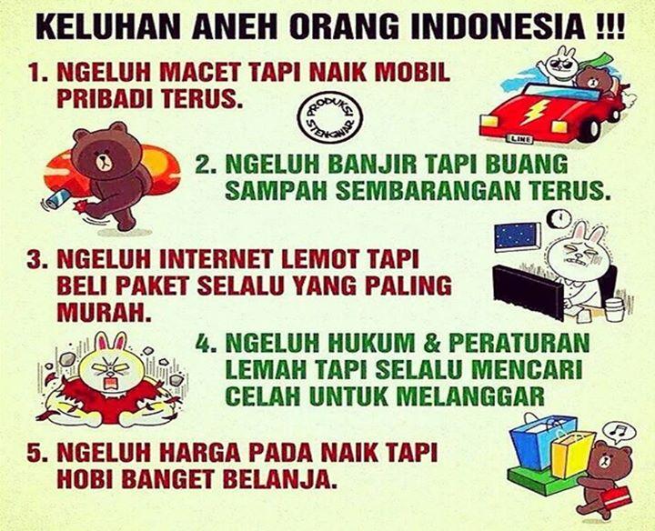 orang indonesia yang aneh
