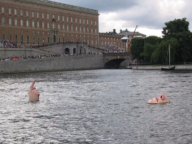 21-Man in the Water, Stockholm, Sweden