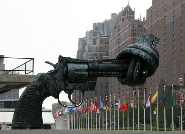 22-The Knotted Gun, United Nations Headquarters, New York, USA
