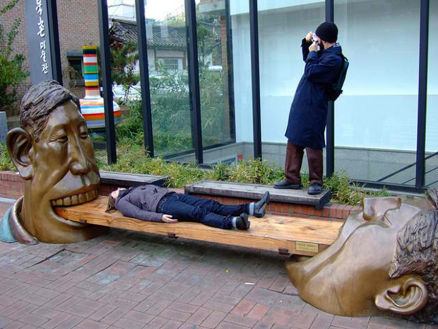 25-Bench Outside Bukcheon Museum, Seoul, South Korea