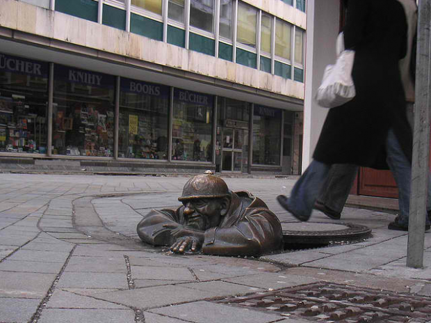 31-Man at Work, Bratislava, Slovakia