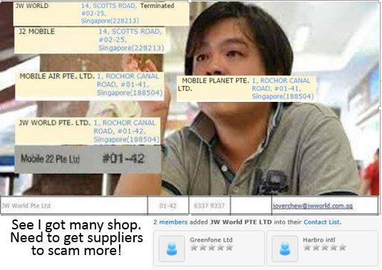 Salah satu informasi tentang bisnis Jover Chew yang disebarkan melalui akun Face Book parodi