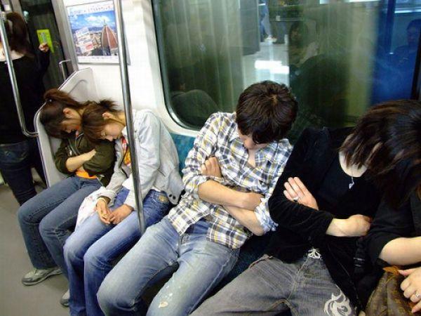 orang jepang tidur