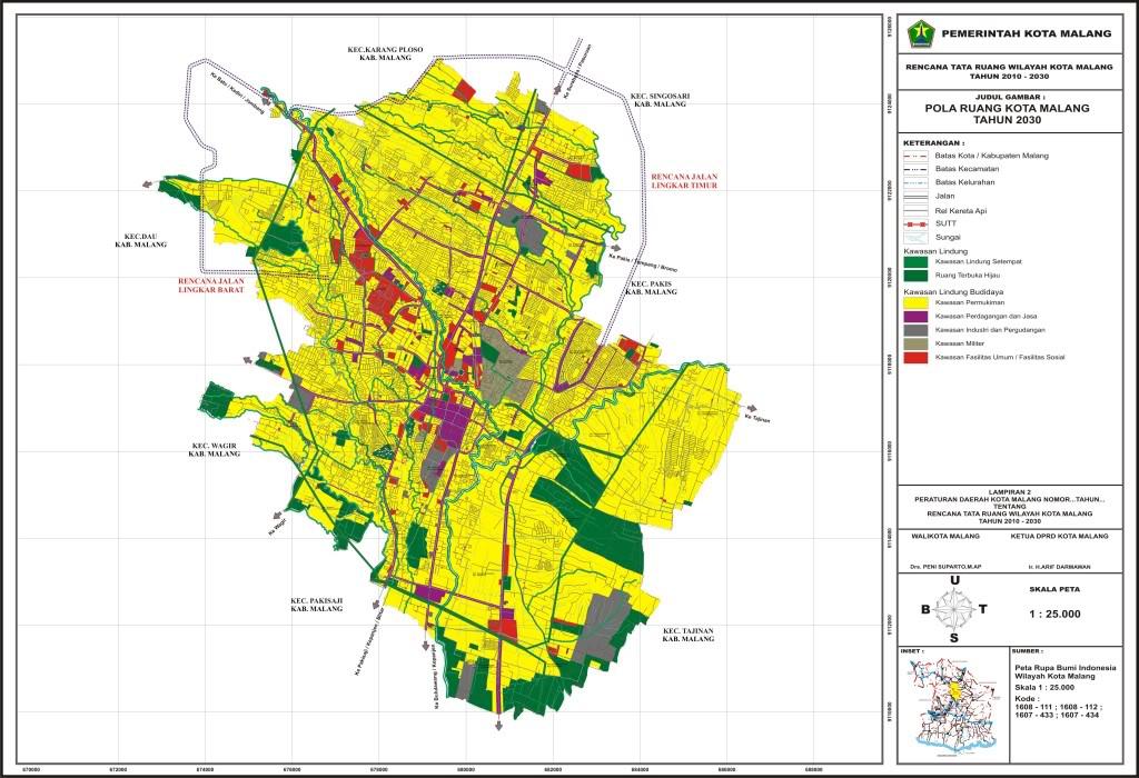 Tata Guna Lahan 2030 (Peta Dasar Foto Udara)