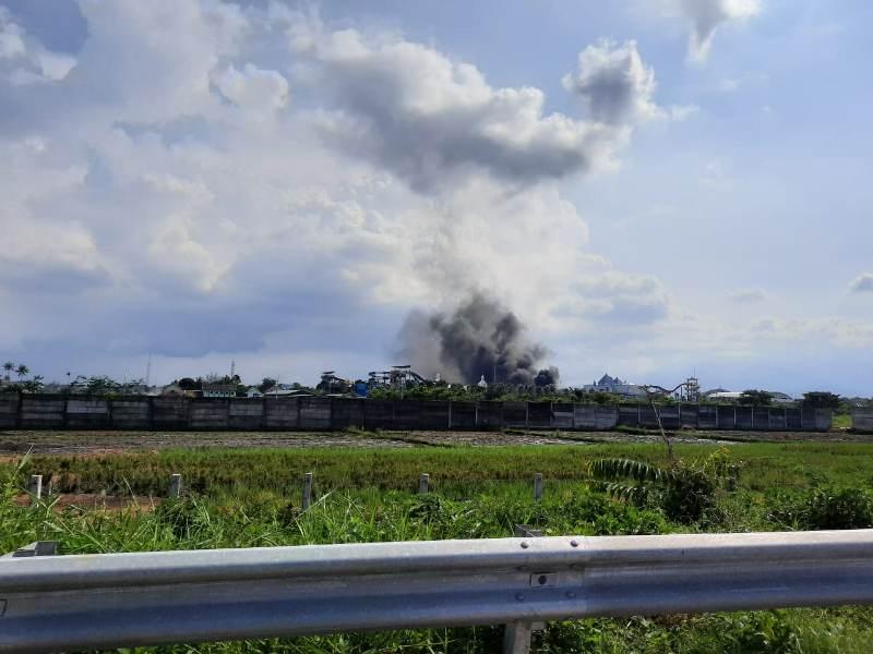 Hawai Waterpark Malang Kebakaran